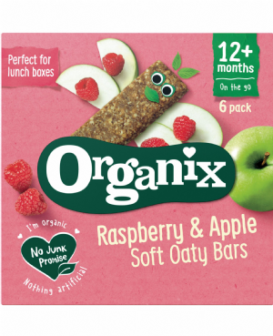 Raspberry & Apple Oaty Bars 6x30g
